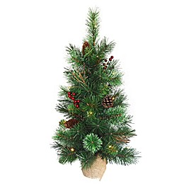 National Tree Company 24-Inch Glistening Pine Pre-Lit Christmas Tree with Warm White Lights