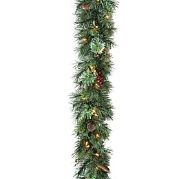 National Tree Company 9-Foot Glistening Pine Pre-Lit Garland with Clear Lights