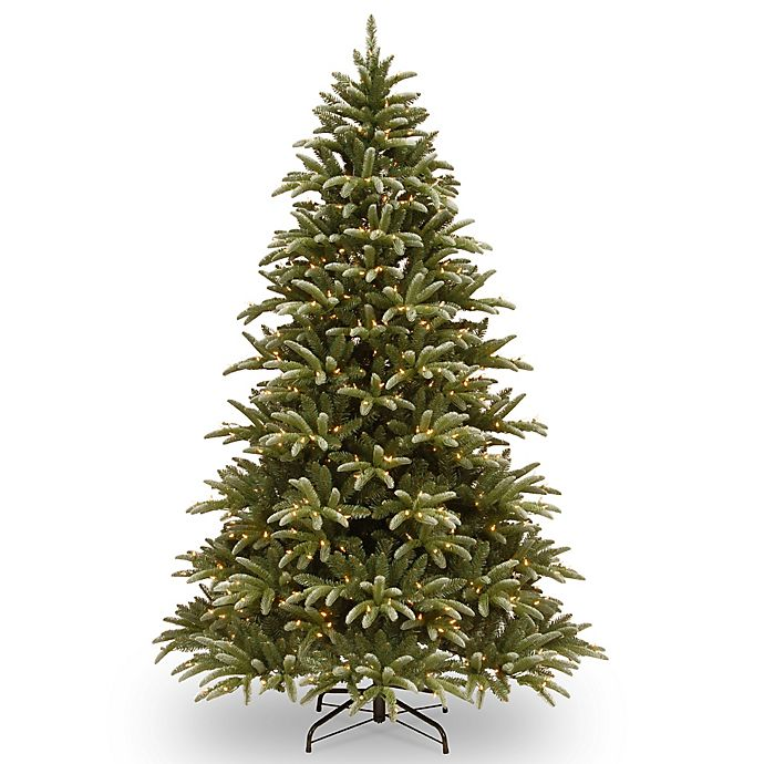 Christmas Tree Garden Ridge: National Tree 7.5-Foot Frosted Green Ridge Fir Pre-Lit