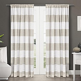 Exclusive Home Darma 2-Pack Semi-Sheer Rod Pocket Window Curtain in Linen
