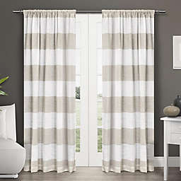 Exclusive Home Darma 2-Pack 96-Inch Semi-Sheer Rod Pocket Window Curtain in Linen