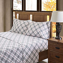 True North by Sleep Philosophy Inverness Angle Flannel California King Sheet Set in Red