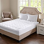 Madison Park Cloud Soft King Mattress Pad in White