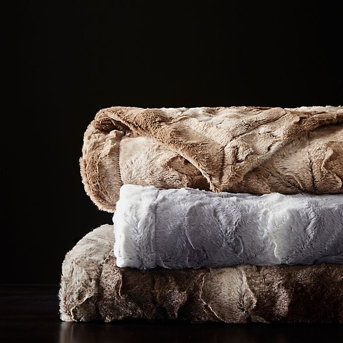 Alternate image 1 for Madison Park Zuri Faux Fur Oversized Bed Throw Blanket