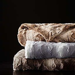 Madison Park Zuri Faux Fur Oversized Bed Throw Blanket