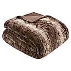 Madison Park Zuri Oversized Throw Blanket in Chocolate