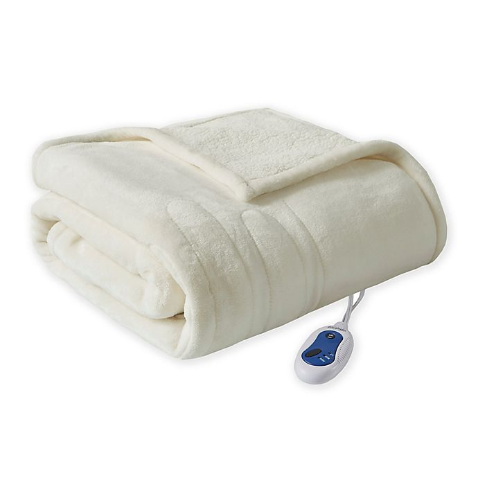 Alternate image 1 for Beautyrest® Microlight Berber Heated Throw Blanket in Ivory