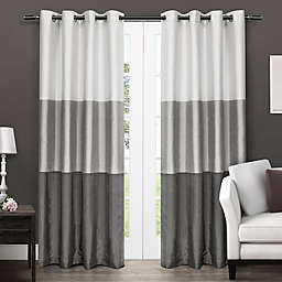 Chateau 2-Pack Riva 2-Pack 96-Inch Grommet Top Window Curtain in Black Pearl