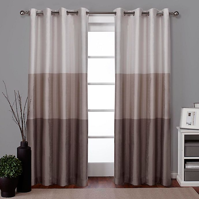 Alternate image 1 for Chateau 96-Inch Grommet Top Window Curtain Panel Pair in Taupe