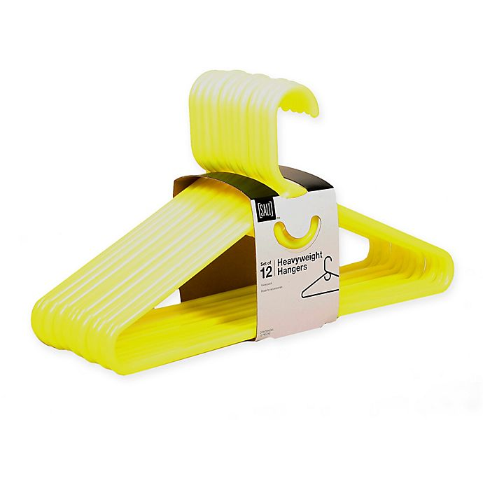 Alternate image 1 for SALT™ Heavyweight Hangers in Yellow (Set of 12)