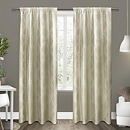 Exclusive Home Como Rod Pocket Window Curtain Panel Pair
