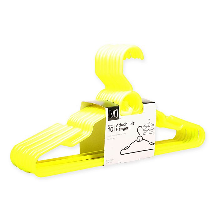 Alternate image 1 for SALT™ Attachable Hangers in Yellow (Set of 10)