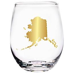 Home Essentials & Beyond Alaska State Stemless Wine Glass
