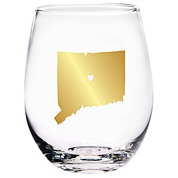 Home Essentials & Beyond Connecticut State Stemless Wine Glass