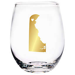 Home Essentials & Beyond Delaware State Stemless Wine Glass
