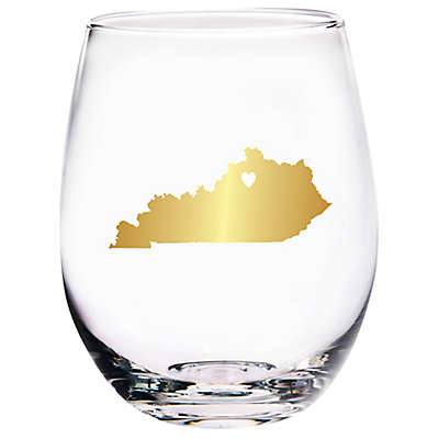 Home Essentials & Beyond Kentucky State Stemless Wine Glass