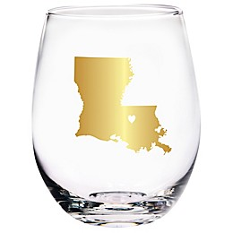 Home Essentials & Beyond Louisiana State Stemless Wine Glass