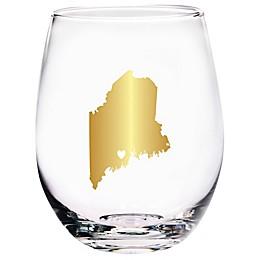 Home Essentials & Beyond Maine State Stemless Wine Glass