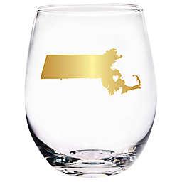 Home Essentials & Beyond Massachusetts State Stemless Wine Glass