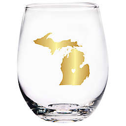 Home Essentials & Beyond Michigan State Stemless Wine Glass