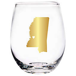 Home Essentials & Beyond Mississippi State Stemless Wine Glass