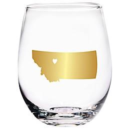 Home Essentials & Beyond Montana State Stemless Wine Glass