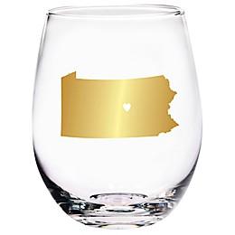 Home Essentials & Beyond Pennsylvania State Stemless Wine Glass