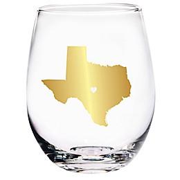 Home Essentials & Beyond Texas State Stemless Wine Glass