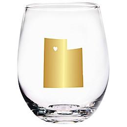 Home Essentials & Beyond Utah State Stemless Wine Glass