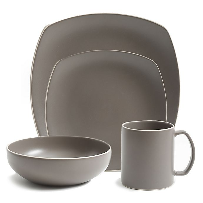 Alternate image 1 for Artisanal Kitchen Supply® Edge Dinnerware Collection in Stone