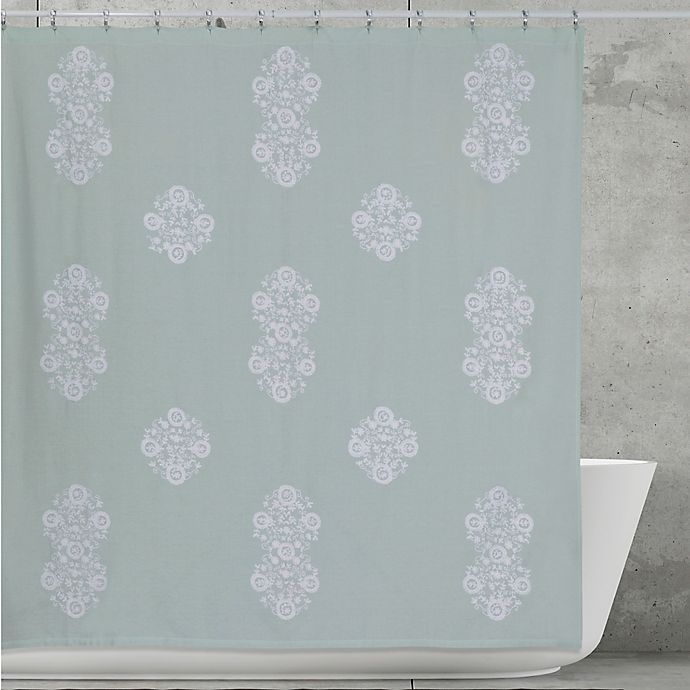 Creative Bath Boho Shower Curtain In Aqua