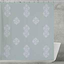 Creative 3999 Bath Boho Shower Curtain In Aqua
