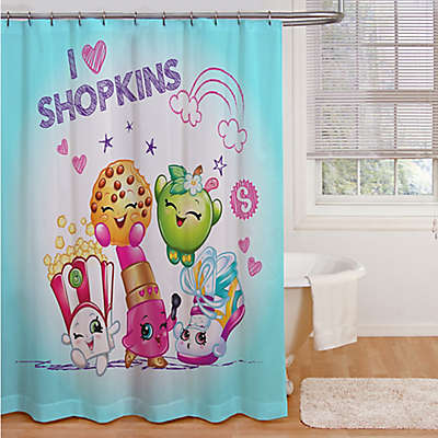 "Shopkins ""I Love Shopkins"" Shower Curtain"