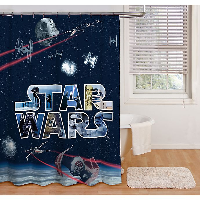 Microfiber Towels Bed Bath And Beyond: Star Wars™ Space Battle 72-Inch Shower Curtain
