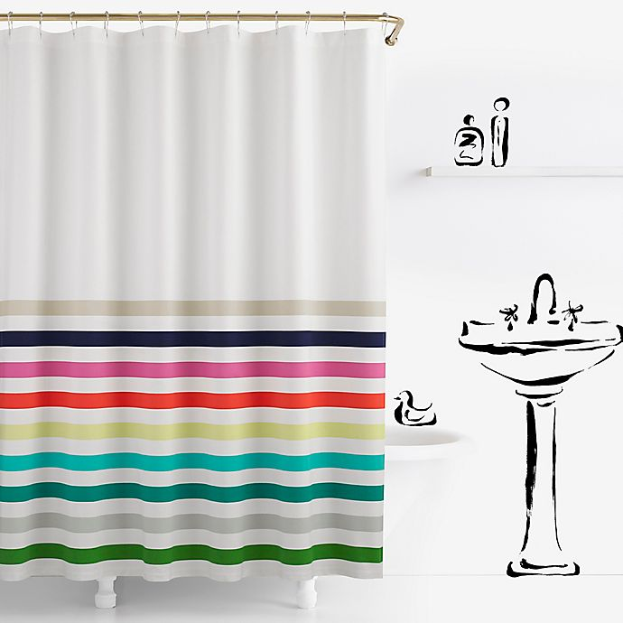 Alternate image 1 for kate spade new york Candy Stripe Shower Curtain