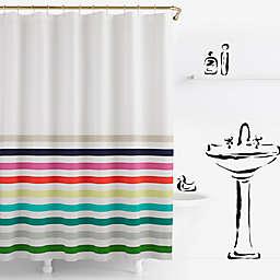 kate spade new york Candy Stripe Shower Curtain
