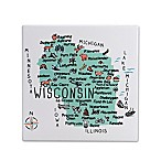My Place Wisconsin 7.75  Square Trivet