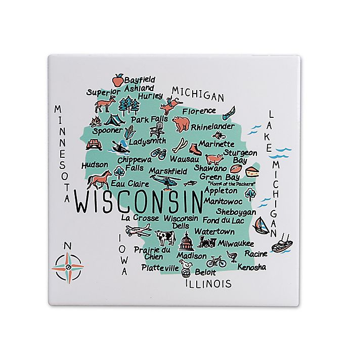 Alternate image 1 for My Place Wisconsin 7.75\