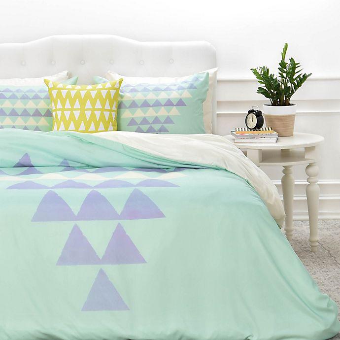 Alternate image 1 for Deny Designs Allyson Johnson Purple Triangles Duvet Cover
