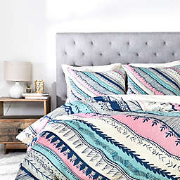 Deny Designs Rosebudstudio Live Free Duvet Cover in Blue