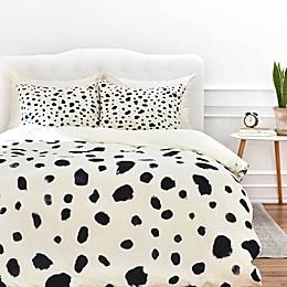 Deny Designs Rebecca Allen Miss Monroes Dalmatian Duvet Cover