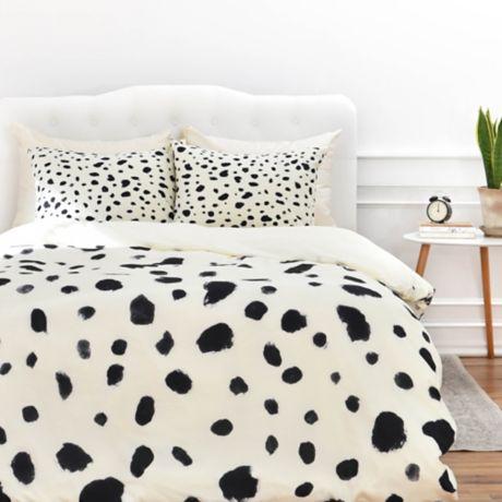 Deny Designs Rebecca Allen Miss Monroes Dalmatian Duvet