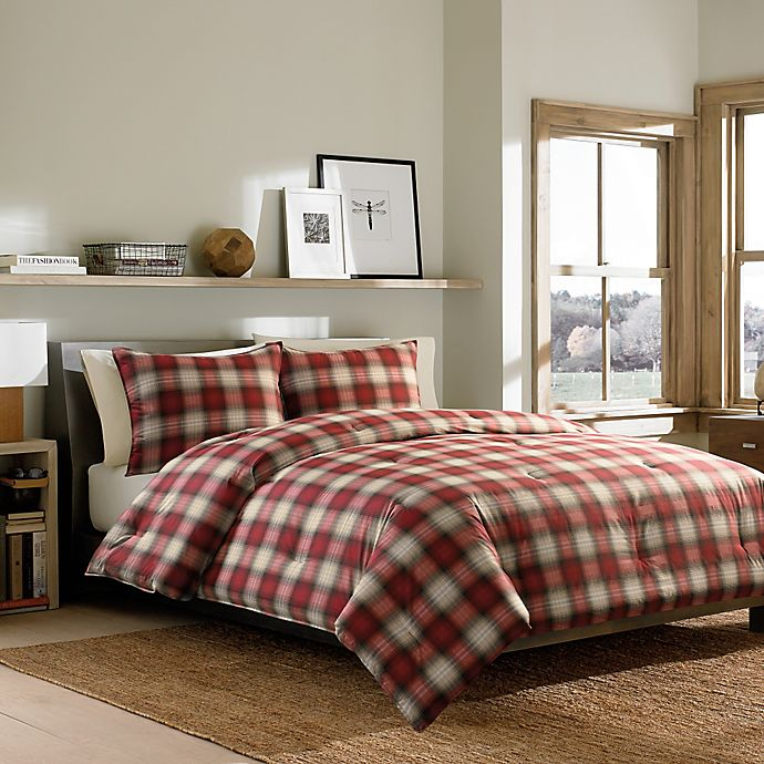 Alternate image 1 for Eddie Bauer® Navigation Plaid Comforter Set in Red