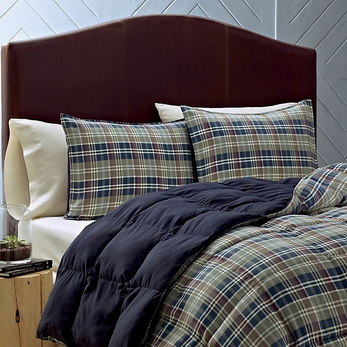 Alternate image 1 for Eddie Bauer® Rugged Plaid Twin Comforter Set in Blue