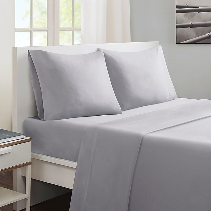 Alternate image 1 for Sleep Philosophy® Smart Cool Full Sheet Set in Grey