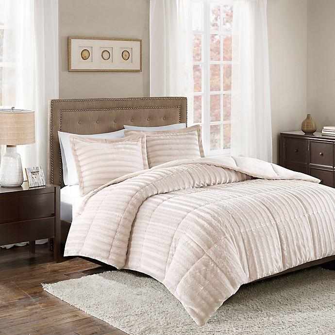 Alternate image 1 for Madison Park Duke Faux Fur 3-Piece Comforter Set