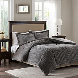 Madison Park Artic Fur Down Comforter Set