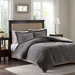 Madison Park Artic Fur Down Comforter Set