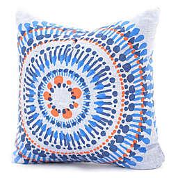 Deny Designs Zoe Wodarz Indigo Triangle 16-Inch Square Throw Pillow