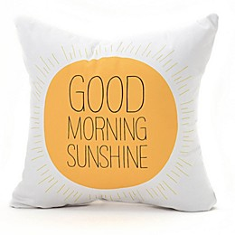 Deny Designs Allyson Johnson Morning Sunshine Throw Pillow in Yellow